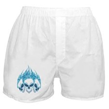 Blazing Blue Skulls Boxer Shorts