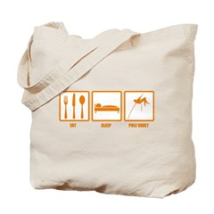 Eat Sleep Pole Vault Tote Bag