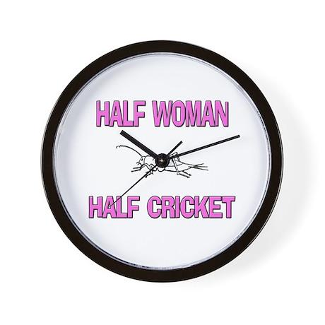 Half Woman Half Cricket Wall Clock