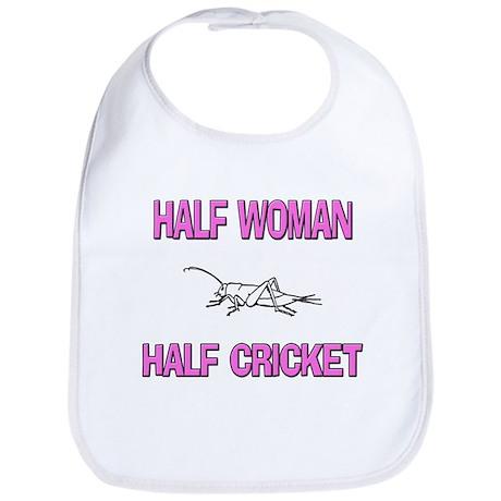 Half Woman Half Cricket Bib