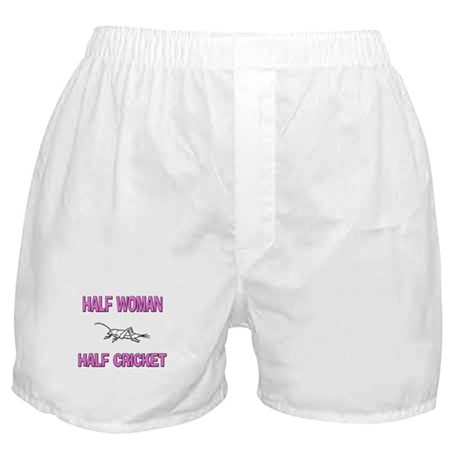 Half Woman Half Cricket Boxer Shorts