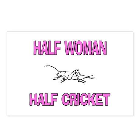Half Woman Half Cricket Postcards (Package of 8)