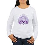 Blazing Purple Skulls Women's Long Sleeve T-Shirt