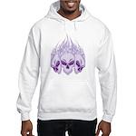 Blazing Purple Skulls Hooded Sweatshirt