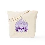 Blazing Purple Skulls Tote Bag