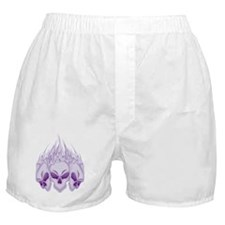 Blazing Purple Skulls Boxer Shorts