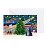 XmasMagic/TibetanTer 5 Greeting Cards (Pk of 10)