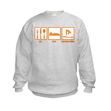 Eat Sleep Platform Diving Kids Sweatshirt