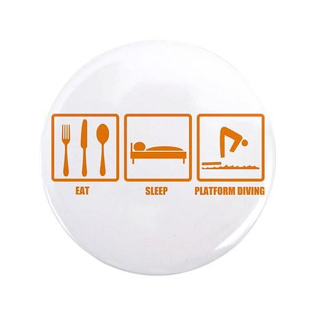 """Eat Sleep Platform Diving 3.5"""" Button (100 pack)"""