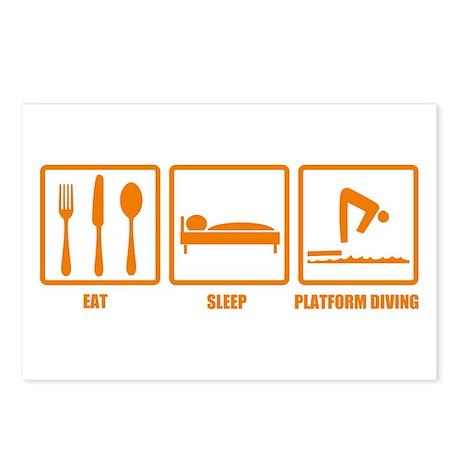 Eat Sleep Platform Diving Postcards (Package of 8)