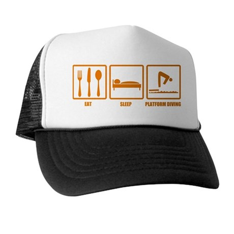 Eat Sleep Platform Diving Trucker Hat