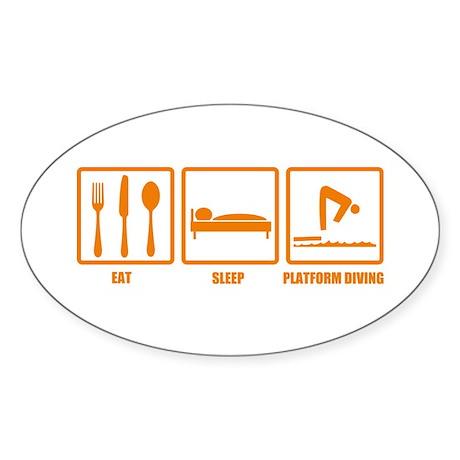 Eat Sleep Platform Diving Oval Sticker