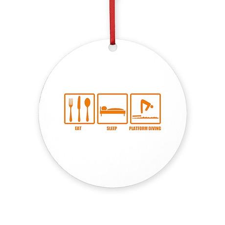 Eat Sleep Platform Diving Ornament (Round)
