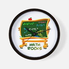 Math Rocks Chalk Board Wall Clock