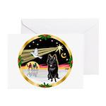XmasDove/Schipperke Greeting Cards (Pk of 10)