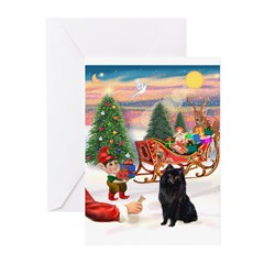 Santas Schipperke Greeting Cards (Pk of 10)