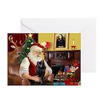 Santa's Schipperke Greeting Cards (Pk of 10)
