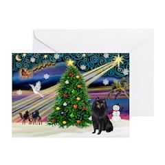 XmasMagic/Schipperke (#2) Greeting Cards(Pk of 10)