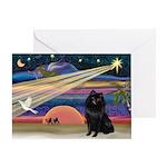 Xmas Star & Schipperke Greeting Card
