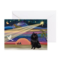 Xmas Star & Schipperke Greeting Card