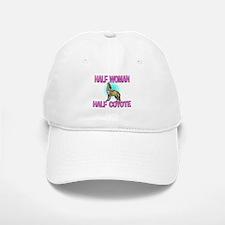 Half Woman Half Coyote Baseball Baseball Cap