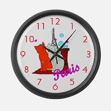 Paris Kitties Giant Clock