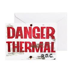 Danger Thermal (Hot) Greeting Cards (Pk of 10)