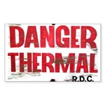 Danger Thermal (Hot) Rectangle Sticker