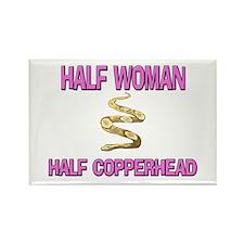 Half Woman Half Copperhead Rectangle Magnet