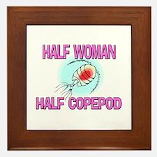 Half Woman Half Copepod Framed Tile