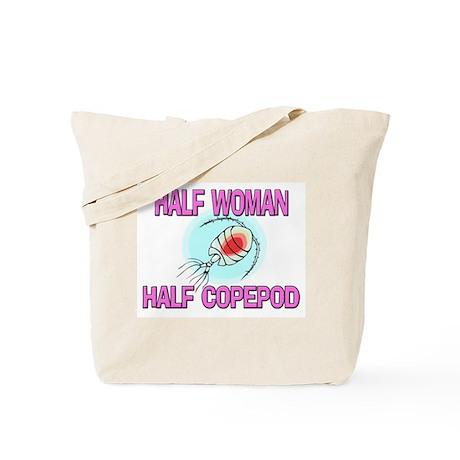 Half Woman Half Copepod Tote Bag