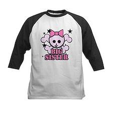 Pink bow skull big sister Tee