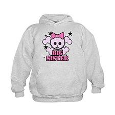 Pink bow skull big sister Hoodie