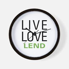 Live Love Lend Wall Clock