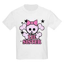 pink bow skull little sister T-Shirt