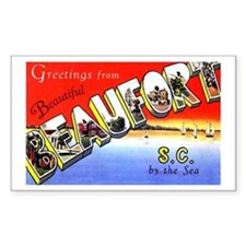 Beaufort South Carolina Greetings Decal