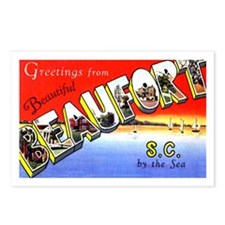 Beaufort South Carolina Greetings Postcards (Packa