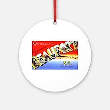 Beaufort South Carolina Greetings Ornament (Round)