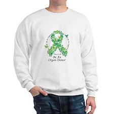 Organ Donor Butterfly Ribbon Sweatshirt