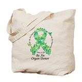 Organ donor butterfly Canvas Totes