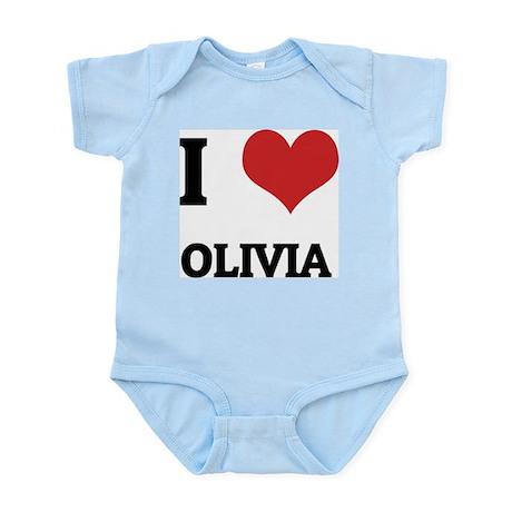I Love Olivia Infant Creeper