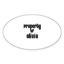 Property of Olivia Oval Decal