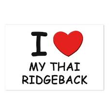 I love MY THAI RIDGEBACK Postcards (Package of 8)
