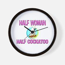 Half Woman Half Cockatoo Wall Clock