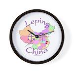 Leping China Map Wall Clock