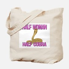 Half Woman Half Cobra Tote Bag