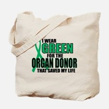 Green For Organ Donor Tote Bag