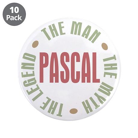 "Pascal Man Myth Legend 3.5"" Button (10 pack)"