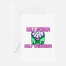 Half Woman Half Cnidarian Greeting Cards (Pk of 10