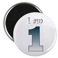 I am 1 (navy blue) Magnet